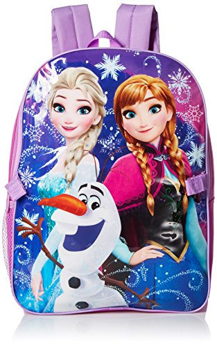 Disney Little Girls Frozen Backpack with Lunch, Purple