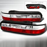 nissan 240sx s13 coupe - Spec-D Tuning LT-S13892RPW-TM Nissan 240Sx S13 2Dr Coupe Red/Clear Tail Lights