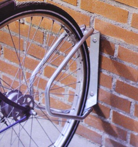 YWWH incluye tornillos Aparca bicicletas de pared ajustable color gris
