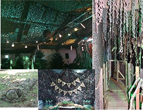BeesClover 9 Colors 5M10M Camouflage Netting camo net for Wedding Decoration Halloween Decoration bar Decoration Decoration Black One Size by BeesClover