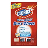 Triple Action Dust Wipes, White, 8 1/2 x 10, 26/Box, 7 Box/Carton, Sold as 1 Carton, 7 Package per Carton