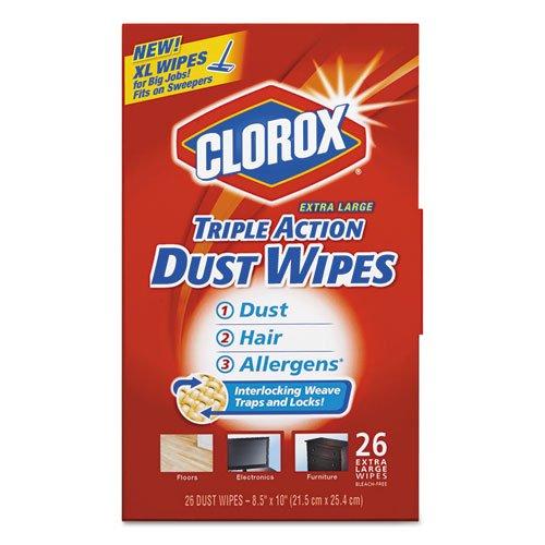 Triple Action Dust Wipes, White, 8 1/2 x 10, 26/Box, 7 Box/Carton, Sold as 1 Carton, 7 Package per Carton