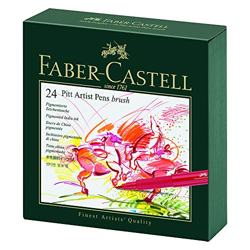 Faber-Castel Pitt Artist Brush Pens (24 Pack), Multicolor (167147)