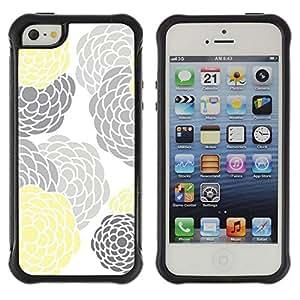 Suave TPU GEL Carcasa Funda Silicona Blando Estuche Caso de protección (para) Apple Iphone 5 / 5S / CECELL Phone case / / Gray Yellow White Minimalist /
