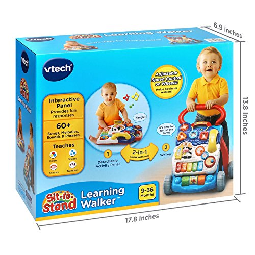 51 xuVBRqML - VTech Sit-to-Stand Learning Walker, Blue (Amazon Exclusive)