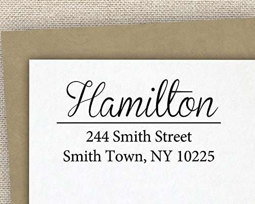 Personalized self inking stamp return address stamp customized custom rubber stamp - Return gifts for housewarming function ...