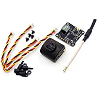 HGLRC XJB-ELF Mini FPV Camera with TX20 V2 5.8GHz Transmitter 25-350mW Combo