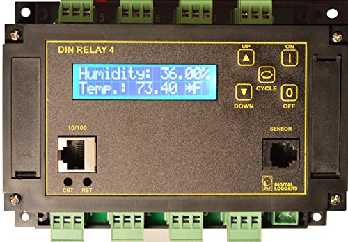 (Web Controlled DIN Relay - 8x Channel, AutoPing, Scripting HTTPS, SSL, ADC, WiFi)