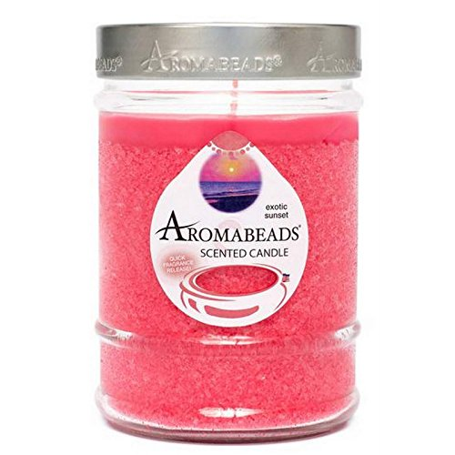 Aromabeads Exotic Sunset Scented Canister Candle Hannas Candle Set