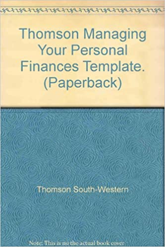 Thomson Managing Your Personal Finances Template. (Paperback ...