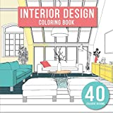 dining room design ideas Interior Design: Adult Coloring Book with Modern Decorated Home Designs And Room Ideas for Relaxation and Unwind