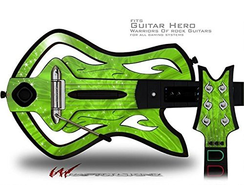 (Stardust Green Decal Style Skin - fits Warriors Of Rock Guitar Hero Guitar (GUITAR NOT INCLUDED) by WraptorSkinz)