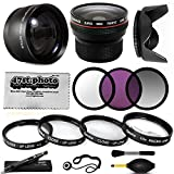 58MM 15 Piece Macro Fisheye Telephoto Lens Filters Set includes 3 Piece Filter Kit (UV + CPL + Warming) + 4 Piece Close UP Kit (+1, +2, +4, 10x Macro) + .20x Professional Fish Eye Lens + 2.2x HD Telephoto + Hood + More for Canon EOS 1D 1Dx 1Ds 1Dc 5DM2 5DM3 5D Mark II III 2 3 6D 7D 10D 20D 20Da 30D 40D 50D 60D 60Da 70D 100D 300D 350D 400D 450D 500D 550D 600D 700D 1000D 1100D 1200D M M2 Rebel SL1 X