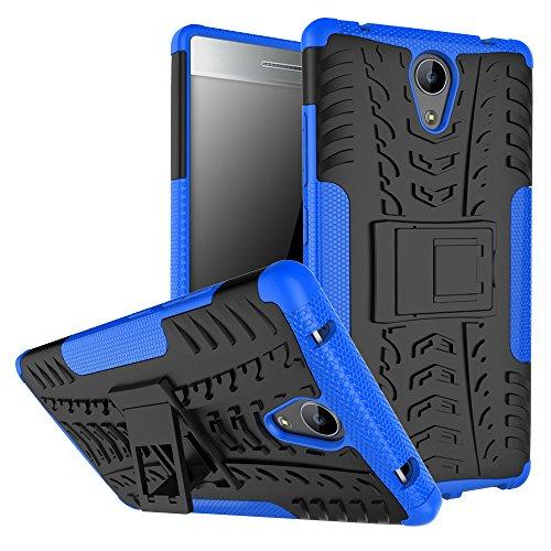 OFU®Para Lenovo Phab2 6.4 Smartphone, Híbrido caja de la armadura para el teléfono Lenovo Phab2 6.4 resistente a prueba de golpes contra la lucha de viaje accesorios-negro azul