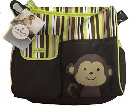 Carters Diaper Bag Monkey Stripes