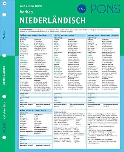 PONS Verben auf einen Blick Niederländisch: kompakte Übersicht, Verbformen und Konjugationen nachschlagen (PONS Auf einen Blick)