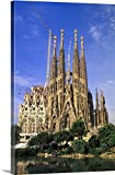 Walter Bibikow Premium Thick-Wrap Canvas Wall Art Print entitled Spain, Barcelona. Sagrada Familia Cathedral, Designed By Antoni Gaudi