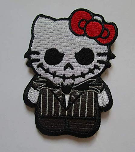 Hello Kitty AS Jack Nightmare Before Christmas Military Patch Fabric Embroidered Badges Patch Tactical Stickers for Clothes with Hook & -