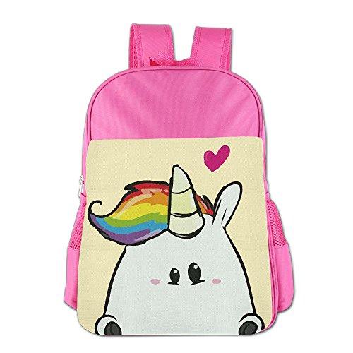 Gibberkids Kids Cute Unicorn Cartoon School Bags Bookbag Boys/Girls For 4-15 Years Old Pink