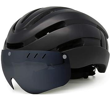Amazon.com: M Merkapa - Casco de bicicleta con gafas de sol ...