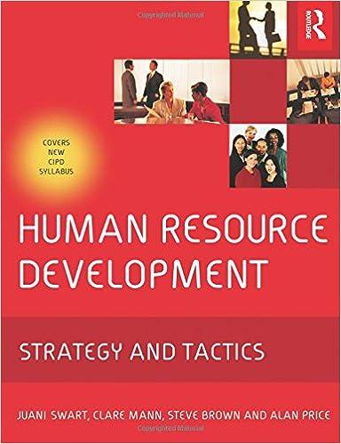 human resource development price alan swart juani mann clare brown steve