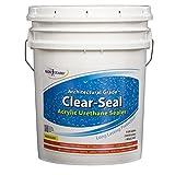 Rainguard International CU- 0105 Seal Acrylic Urethane Coating High Gloss 5 gal (Ready to Use), Clear