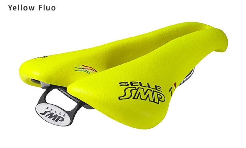 Selle SMP TRIATHLON Bicycle Saddle Seat - T1 Yellow FLUO. . . Made in Italy
