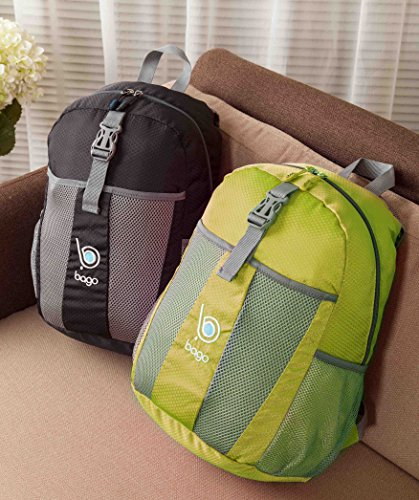 903db33c45 Packable Backpacks for Air Travel Carry On Camping Backpacking Daypacks  (GREEN)