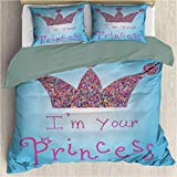 Bed Sheet Set - I am a Princess Romantic Quote