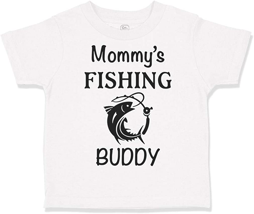 Custom Toddler T-Shirt Mommys Fishing Buddy Mom Mothers Boy /& Girl Clothes