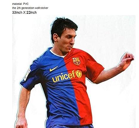 Amazon.com: Tamaño gigante Messi etiqueta de la pared ...