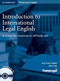 img - for Introduction to International Legal English Student's Book with Audio CDs (2): A Course for Classroom or Self-Study Use book / textbook / text book