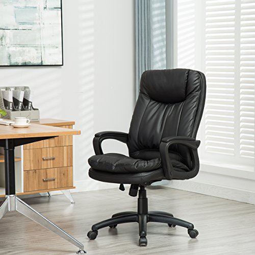 sunmae high back office chair ergonomic pu leather executive chair