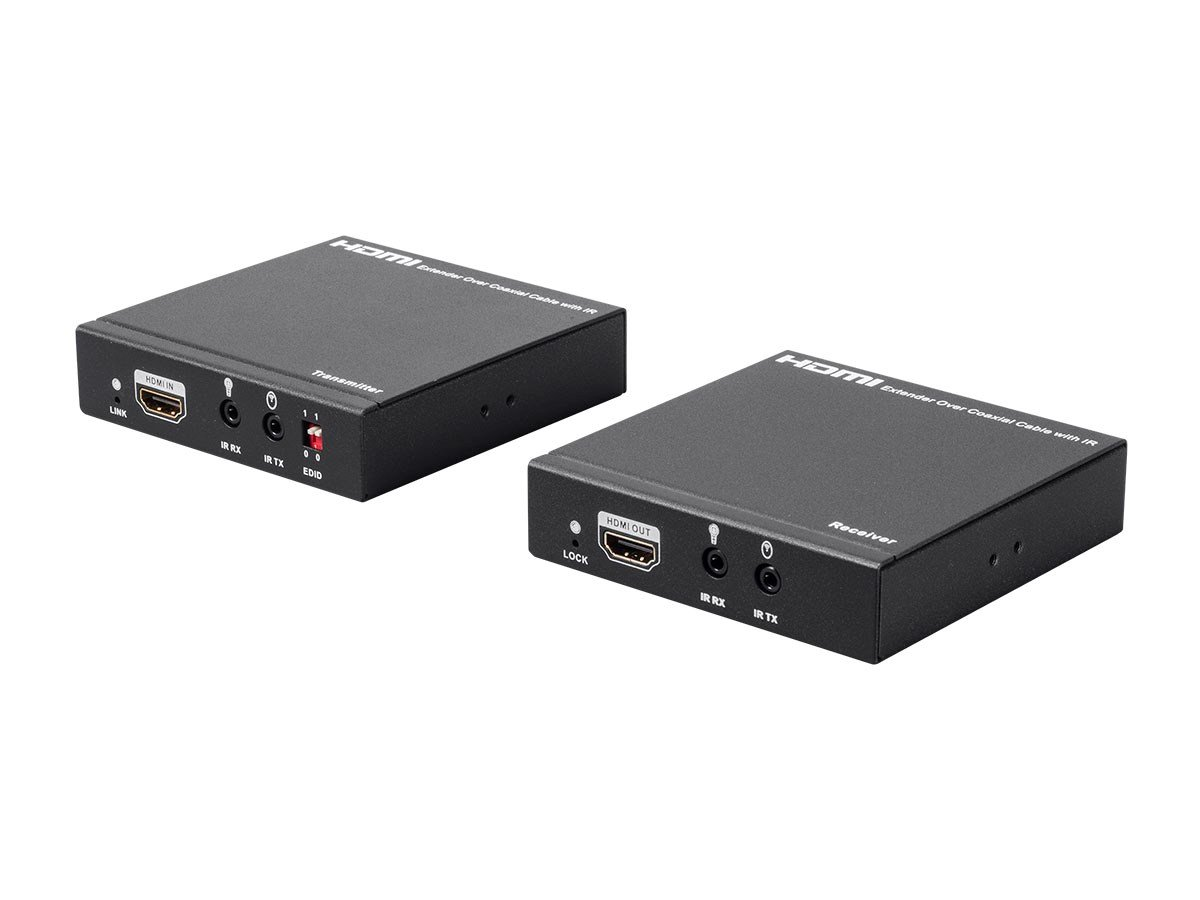 Monoprice Blackbird HDMI Extender over Single 100m Coaxial with Bi-Direction IR and Loop Out by Monoprice