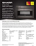 Sharp-SMD2470AH-24-Microwave-Drawer-with-12-cu-ft-Capacity-in-Black-Stainless-Steel