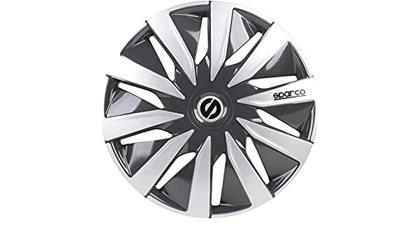 Amazon.com: Sparco Set Wheel Covers Lazio 15-inch Grey/Silver: Automotive