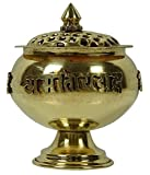 Indian Religious Traditional Temple Arti Puja Incense Brass Burner Censer