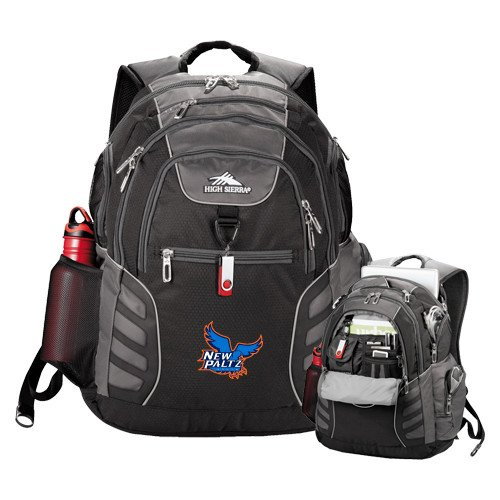 New Paltz High Sierra Big Wig Black Compu Backpack 'Official Logo' by CollegeFanGear