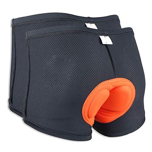 2-Pack Velomayka Men Bicycle Cycling Comfortable Underwear Gel 3D Padded Bike Short Pants Cycling (M)