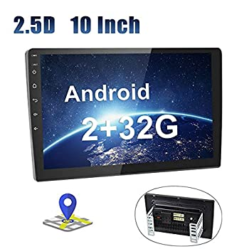 Image of In-Dash Navigation Android Car Radio 10 Inch Touch Screen 2G+32G GPS Sat Navi Stereo Player AMprime 2 Din Bluetooth WiFi FM Mobile Phone Mirror Link Dual USB