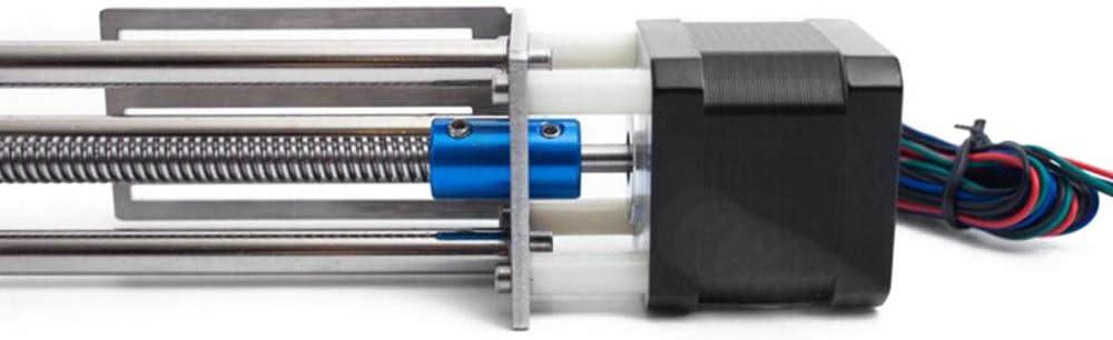 HUKOER Pieza de máquina de grabado de guía lineal XYZ, Tornillo de bola Lineal CNC Movimiento deslizante, Impulsión del Motor paso a paso Longitud de carrera de 150 mm: Amazon.es: Bricolaje y