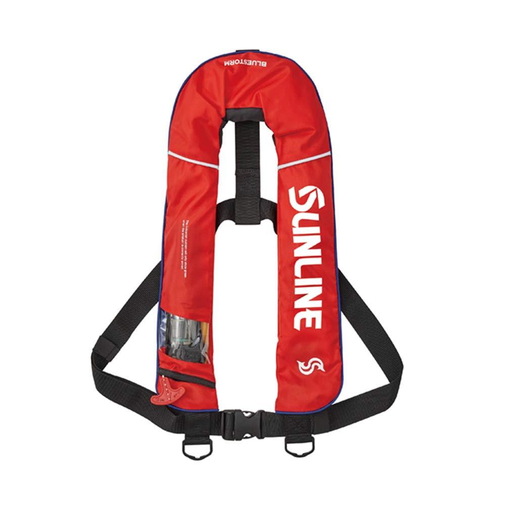 サンライン(SUNLINE) オートインフレータブルベスト SUL-2520 レッド レッド B07H26LQP1