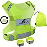 FREEMOVE Reflective Running Vest Gear | YOUR BEST CHOICE TO STAY VISIBLE | Ultra Light & Comfy...