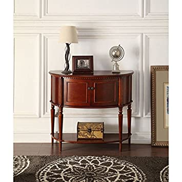 Living Room Furniture- Console Table Mid-Century - Transitional Styles Aplinas Cherry Accent Table - Assembly Required