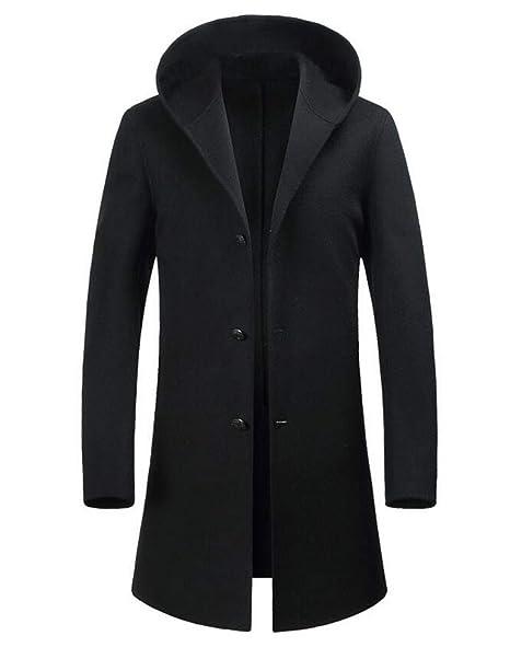 GKKXUE Abrigo Suelto Cortaviento para Hombre Gordo y abono XL Largo Abrigo de Doble Cara (