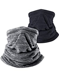 2 Pack or 1 Pack - Soft Fleece Neck Gaiter Warmer Face Mask for Cold Weather Winter Outdoor Sports