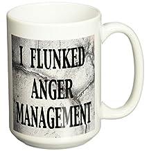 3dRose mug_171965_2 I Flunked Anger Management Ceramic Mug, 15-Ounce