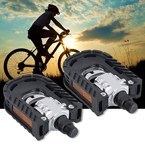 Universal Aluminum Alloy Mountain Bike Bicycle Folding Pedals Non-slip by CLKJYF