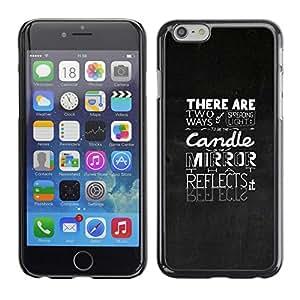 TopCaseStore / la caja del caucho duro de la cubierta de protección de la piel - Typography Emotional Message - Apple iPhone 6 Plus 5.5