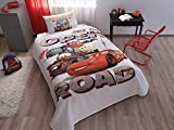 Disney Cars Single/Twin 100% Cotton Bedding Bedspread/Coverlet Set 3 Pcs